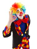 Clown showing ok sign Stock Image