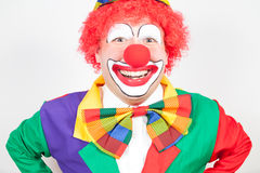 Smiling clown Stock Photo