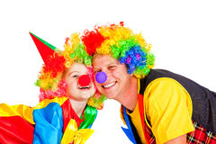 Smiling clowns Stock Image