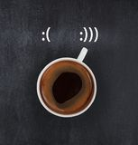 Smiling coffee Royalty Free Stock Photos