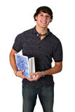 Smiling College Student Holding books Stock Photography
