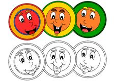 Smiling color head as a dye for little kids Stock Photo