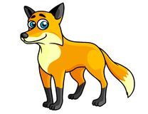Smiling colored cartoon fox Royalty Free Stock Images