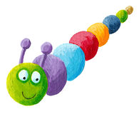 Smiling colorful caterpillar Royalty Free Stock Photo