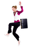 Smiling commercial woman Stock Images