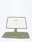 Smiling computer Stock Photo