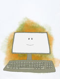 Smiling computer royalty free illustration