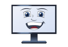 Smiling computer Royalty Free Stock Photo