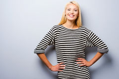 Smiling confidence. Royalty Free Stock Image