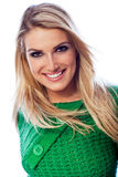 Smiling and confident beautiful blond woman Stock Images