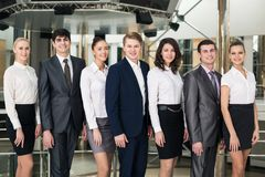 Smiling and confident business team Stock Images