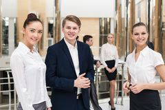Smiling and confident business team Stock Photography