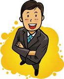Smiling, confident businessman Royalty Free Stock Image