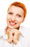 Smiling and confident businesswoman Royalty Free Stock Images