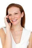 Smiling confident businesswoman on phone Stock Photos