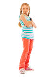 Smiling confident girl full height portrait Stock Image