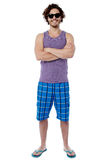 Smiling confident guy in beach wear Royalty Free Stock Photo