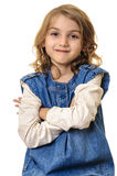 Smiling confident little girl portrait Stock Photo