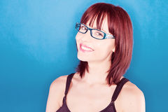 Smiling Confident Woman In Glasses Stock Image