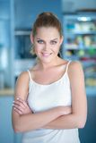 Smiling confident young woman Royalty Free Stock Photo