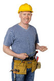 Smiling construction worker Stock Photos