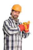 Smiling construction worker Royalty Free Stock Image