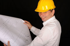Smiling Construction Worker Royalty Free Stock Images