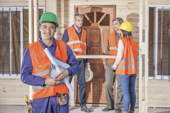 Smiling construction worker Royalty Free Stock Photography