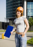 Smiling constructor Royalty Free Stock Photo