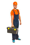 Smiling constructor worker Royalty Free Stock Photography