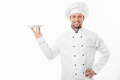Smiling cook Stock Image
