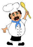 Smiling cook with open arms Stock Images