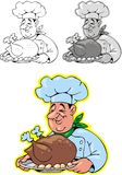 Smiling cook Stock Images