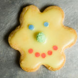 Smiling cookie Royalty Free Stock Photography