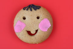 Smiling Cookie Royalty Free Stock Photos