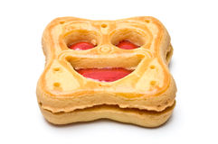 Smiling cookie slanted view Royalty Free Stock Photography