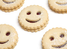 Smiling cookies Royalty Free Stock Image