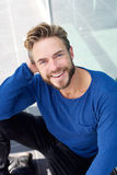 Smiling cool guy with beard Royalty Free Stock Photography