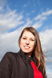 Smiling cool woman looking at camera Royalty Free Stock Images