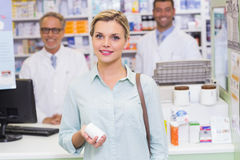Smiling costumer looking at camera Stock Photography