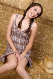 Smiling Country Girl Royalty Free Stock Photo