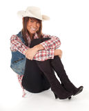 Smiling country girl Stock Image