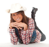 Smiling country girl Royalty Free Stock Images