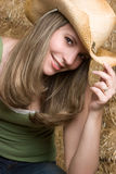 Smiling Country Girl Stock Images