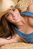 Smiling Country Woman Stock Images