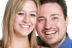 Smiling Couple. Smiling young man woman couple royalty free stock images