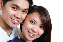 Smiling couple Stock Photos