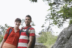 Smiling Couple With Arm Around Outdoors Royalty Free Stock Image
