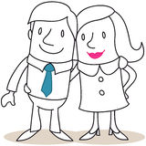 Smiling couple with arms around each other Royalty Free Stock Photography