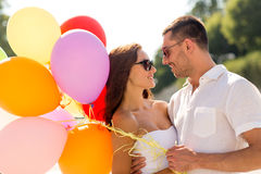 Smiling couple in city Stock Images